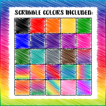 Chunky Scribble Frames - 25 PACK