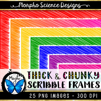 Chunky Scribble Frames - 25 PACK