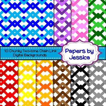Digital Papers - Chunky Two-Tone Chain Link