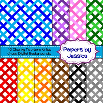 Digital Papers - Chunky Two-Tone Criss Cross