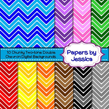 Digital Papers - Chunky Two-Tone Double Chevron