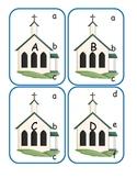 Church Capital Alphabet Clip Cards