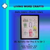 Church Colors Activity Page for Pre-K to Gr. 1