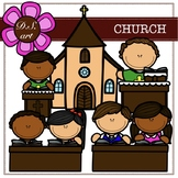 Church Digital Clipart (color and black&white)