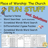 Church Features Word Searches Scrambled Words Crosswords Jigsaw Puzzles