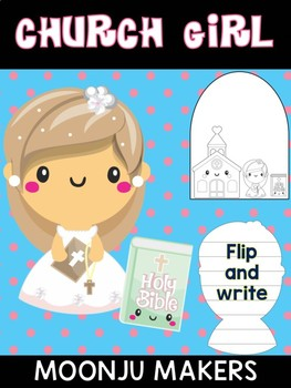 Church Girl & Bible- Moonju Makers, Activity, Craft, Decor, Catholic, Christian