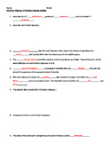 Church History Worksheet