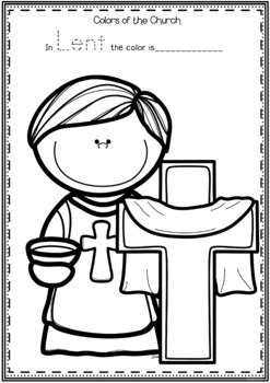 Church: Liturgical Seasons, Meanings, Colors - includes posters and worksheets