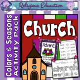 Church Liturgical Seasons and Colors: Posters and Worksheets