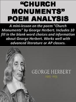 """""""Church Monuments"""" Poem Analysis"""