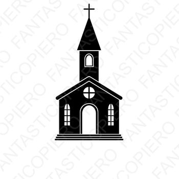 Church SVG files for Silhouette Cameo and Cricut.