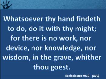 Church Set - Ecclesiastes  9:10