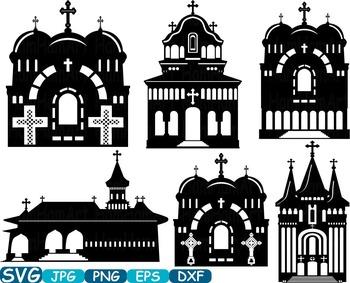 Church Silhouettes sticker buildings clipart religion Jesus Construction -339s