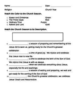 Church Year Quiz