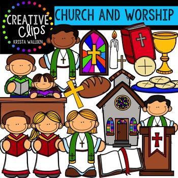 Church and Worship {Creative Clips Digital Clipart}