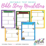 Church/Bible Story Newsletter Template Mini Pack (WORD USE