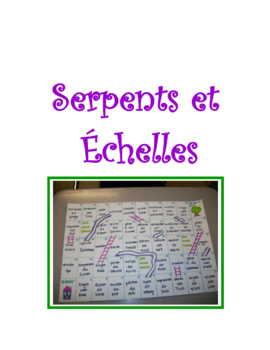 Chutes And Ladders Verb * Project For French Class