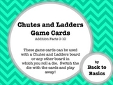 Chutes and Ladders Addition Cards