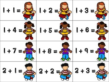 Chutes and Ladders Addition Subtraction Cards