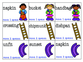 Chutes and Ladders- Syllable Words
