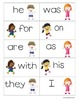 Chutes and Ladders Themed Sight Word Cards
