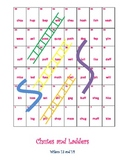 Chutes and Ladders for 3 and 4 sound words