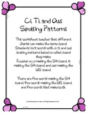 Ci, Ti, and Ous Spelling Patterns