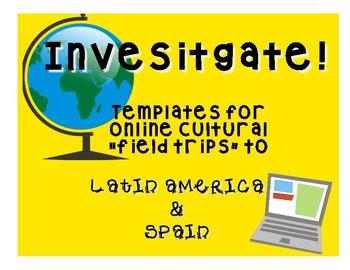 Ciber viajes: Templates to investigate Spanish speaking countries