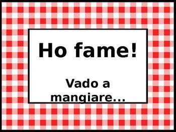 Cibi (Food in Italian) Ho fame Activity