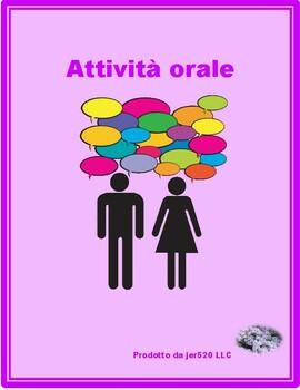 Cibi (Food in Italian) Grid vocabulary activity