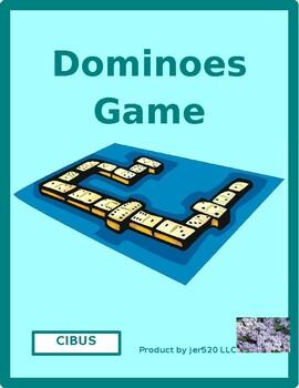 Cibus (Food in Latin) Dominoes