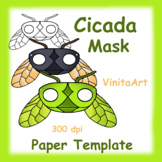 Cicada Mask, Paper Craft Template