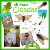 Cicada Paper Crafts, Activities And Clip Art Collection