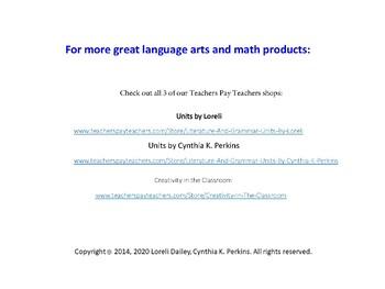 Cicada Summer Literature and Grammar Unit