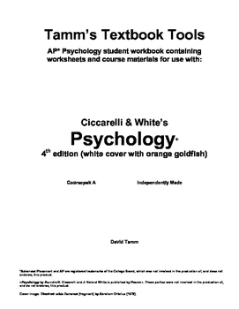 Ciccarelli's Psychology 4th edition ch. 1 and 2 packet