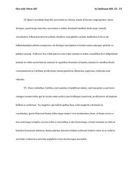 Cicero's In Catilinam XIII 32-33 (Catilinarian Oration)
