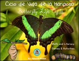 Ciclo de Vida de las Mariposas. Butterfly Life Cycle (Spanish)