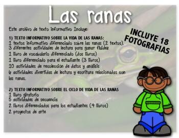 Ciclos de vida - Las ranas