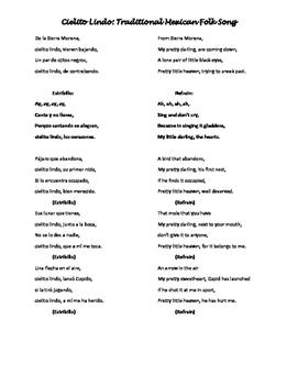 Cielito Lindo: Traditional Mexican Folk Song