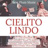 Cielito lindo for Orff/ Marimba. Mexican Folk Song. Hispanic Heritage Music.