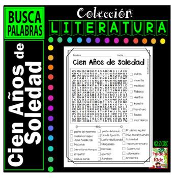 Cien Años de Soledad    -Word search