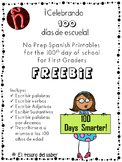 Cien días de escuela - 100 days of school in Spanish - No Prep Printables