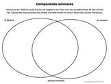 """Ciencias: Animales: Comparar y contrastar: """"Diagramas de Venn"""""""