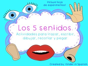 Ciencias Mis Cinco Sentidos en Espanol Five Senses Science in Spanish