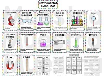 Científicos y sus instrumentos