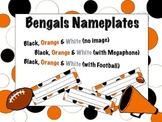 Cincinnati Bengals Themed Nameplates/Classroom Labels