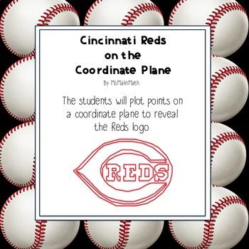 Cincinnati Reds Logo on the Coordinate Plane