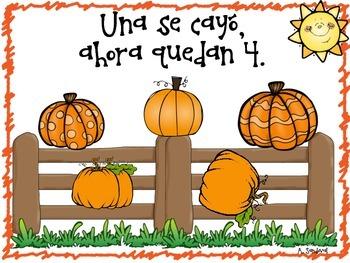 Cinco Calabazas/ Five Pumpkins in Spanish