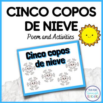 Cinco Copos de Nieve - A Winter Poem in Spanish