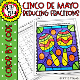 Cinco De May Reducing Fractions | Color by Code